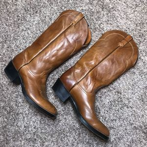 Acme Men's brown leather boots size 8.5
